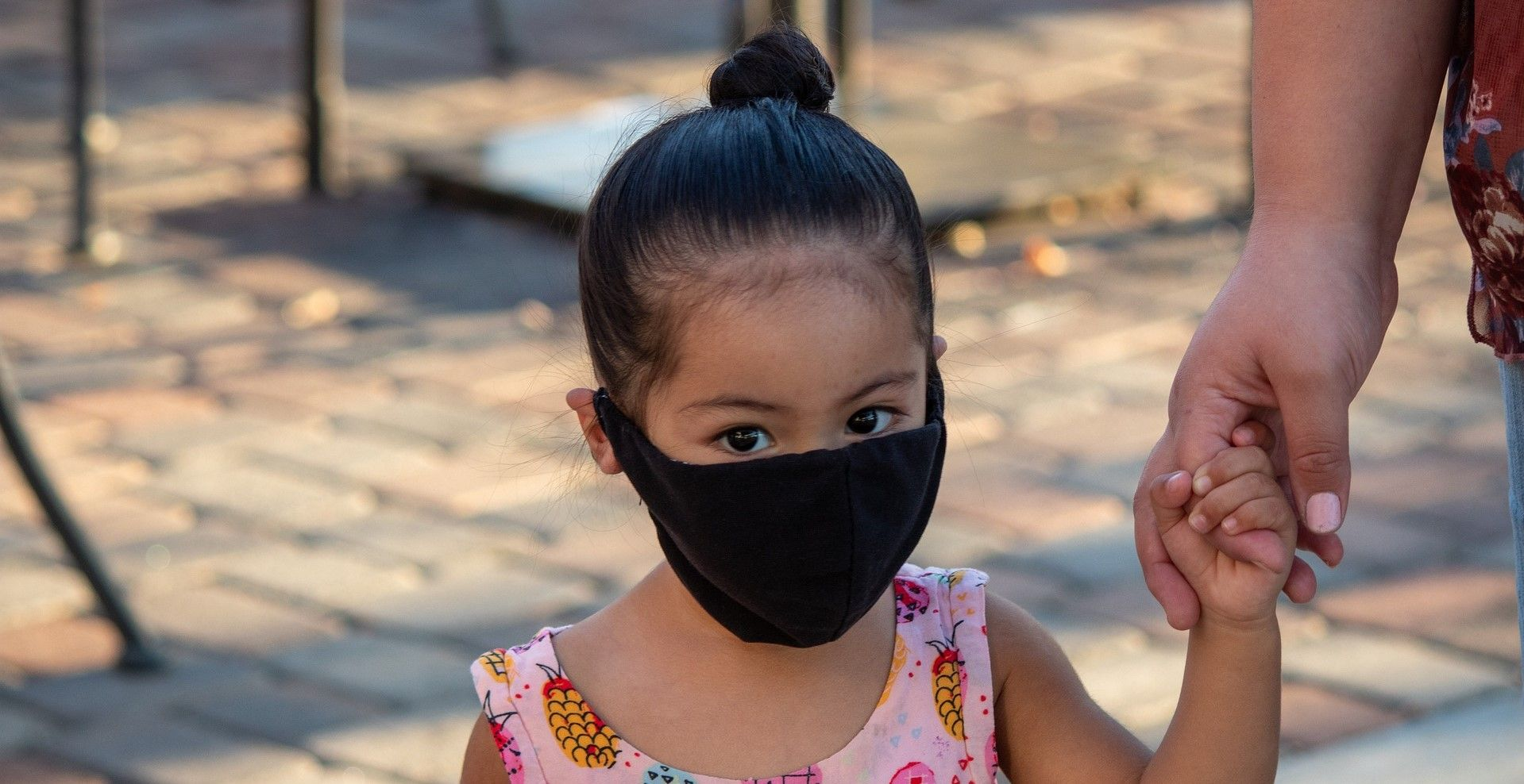 child wearing mask
