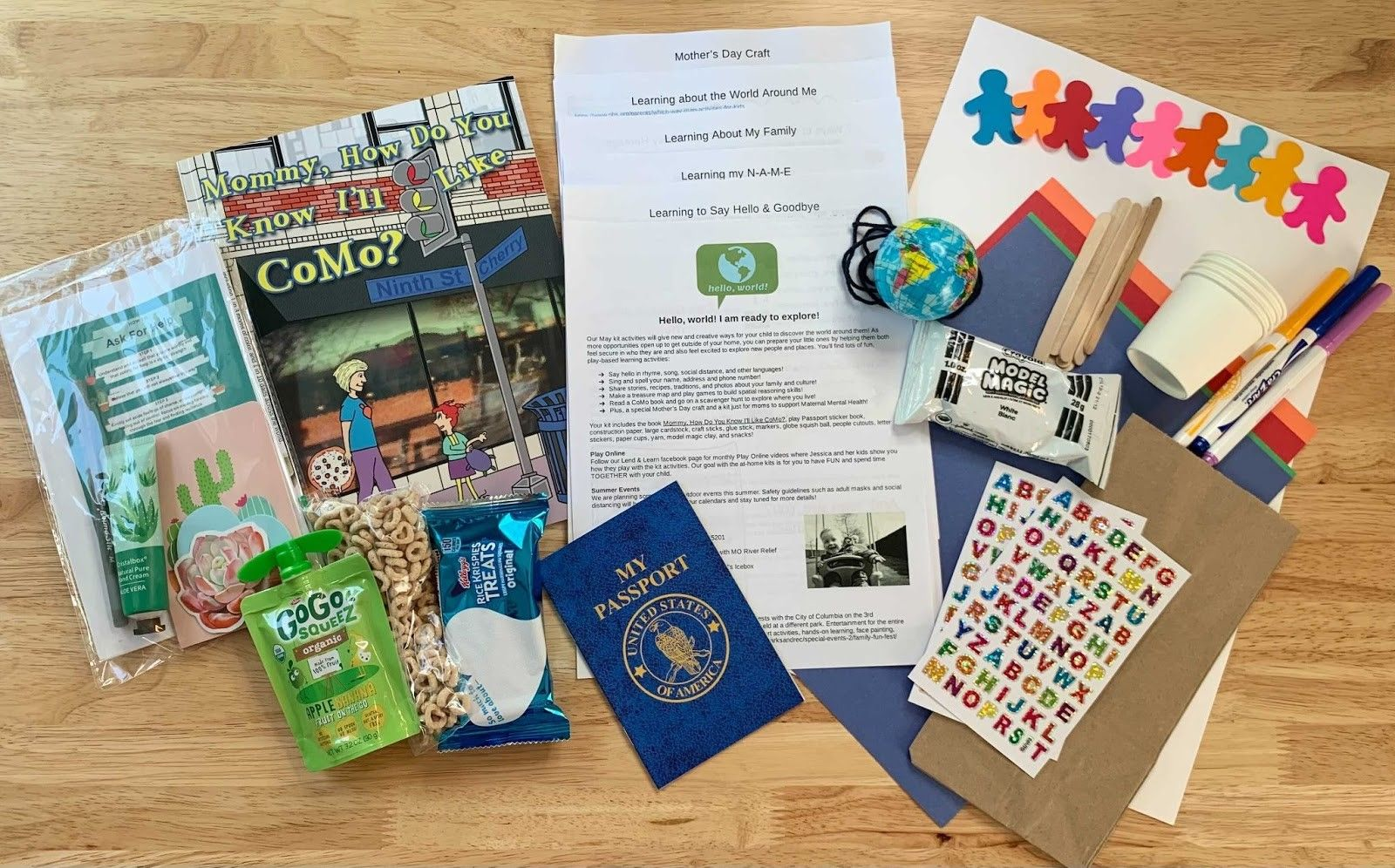 items in the May Activity Kit